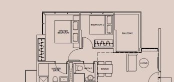 wilshire-residences-floor-plan-2-bedroom-type-b-singapore